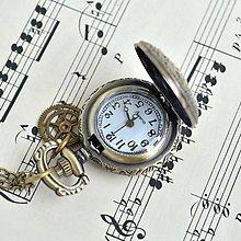 Náramky - DÁMSKÉ HODINKY NA KRK, hodinkový náhrdelník - 6672572_