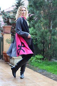 Kabáty - Asymetrický kardigan - 6673604_