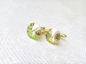 Šperky - Pozlátené (24k) manžetové gombíky Mr. Elegant - 6675139_