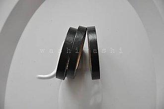 Papier - washi paska slim cierna - 6676199_
