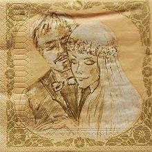 Papier - S698 - Servítky - svadba, vintage,  forever - 6673697_