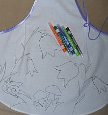 Detské oblečenie - Vymaľuj si zásterku - zvončeky - 6675140_