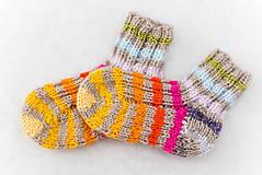 Detské ponožky dúhové