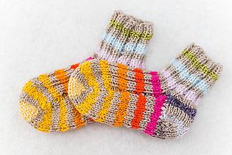Topánočky - Detské ponožky dúhové - 6675358_
