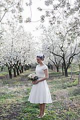 elegantné jednoduché svadobné šatky pre sl.E