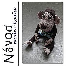 Návody a literatúra - Háčkovaný opičák Theo - návod - 6672175_