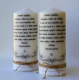 Dekoračná sviečka - poďakovanie svadobným rodičom