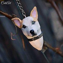 Kľúčenky - Kľúčenka s hlavičkou psa podľa fotografie - 6675348_