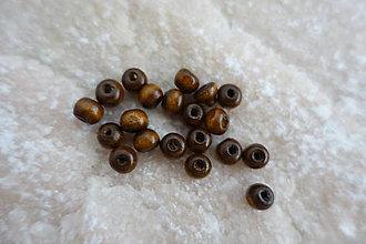 Korálky - Drevená korálka hnedá 8mm - 6675761_