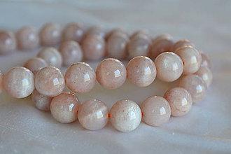 Minerály - Slnečný kameň ružový 8mm, 0.52€/ks - 6673716_