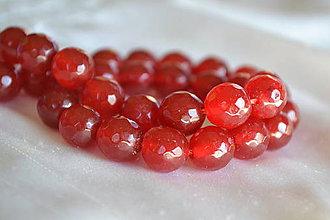Minerály - ZĽAVA! Jadeit červený fazetovaný 10mm, z 0.25 na 0.12€/ks - 6674892_
