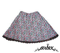 Sukne - Kvetinka - polkolová sukňa - 6672860_
