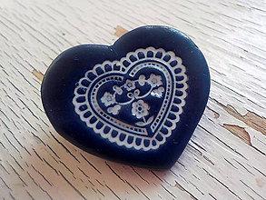 Odznaky/Brošne - ..z babičkinej truhlice-modrá brošňa - 6673221_