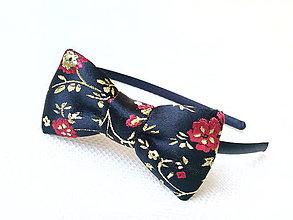 Ozdoby do vlasov - Vintage Japanese headband (black) - 6678650_