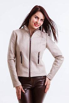 Kabáty - Koženkový kabát béžový (Limitovaná edícia) - 6678216_