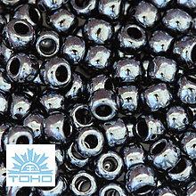 Korálky - TOHO rokajl (Round 3mm) Metallic hematite - 6679347_