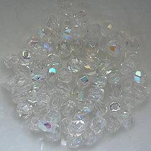 Korálky - Skl.ohňovky 3mm-1ks (krystal AB) - 6678005_