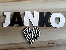 Dekorácie - Janko drevené písmenká - 6676395_