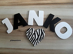 Dekorácie - Janko drevené písmenká - 6676394_