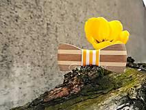 Doplnky - Drevený motýlik - 6678750_