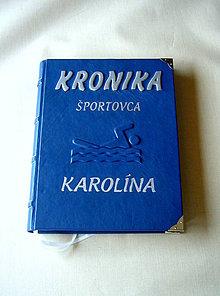 Papiernictvo - Kronika pre športovca prispôsobená na lepenie fotografií - 6677152_