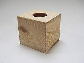 Polotovary - Box na vreckovky masív hneď - 6678031_
