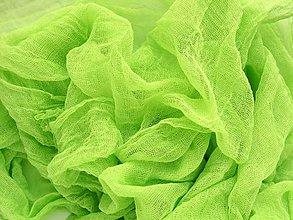 Šály - svetlo-zelený bavlnený šál  SKLADOM:-) - 6676677_
