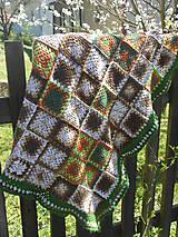 Úžitkový textil - Háčkovaná deka  - 6678404_