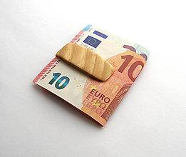 Tašky - Jaseňová spona na peniaze - 6677907_