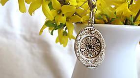 Náušnice - hnedé ornamenty - 6680011_