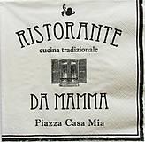 - S699 - Servítky - reštaurácia, mama, kuchyňa, taliansko - 6679981_