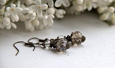 Náušnice - Náušničky z brúseného skla - 6680058_