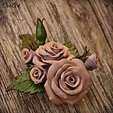 Spona do vlasov pre družičku - ruže III.