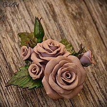 Ozdoby do vlasov - Spona do vlasov pre družičku - ruže III. - 6682470_