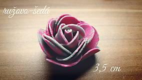 Papiernictvo - Penové ružičky v 4 farbách - 6681976_