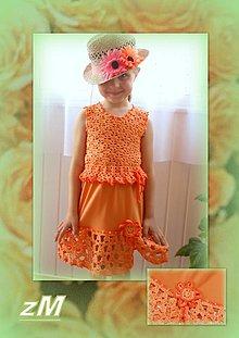 Detské súpravy - Pomarančový komplet (110-116) - 6682303_