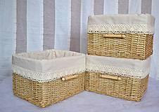 Košíky - Koše slonia kosť / ks - 6680220_