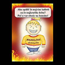 Papiernictvo - Zápisník jedál s vtipným citátom ,,Ako spáliť kalórie (1) - 6681475_