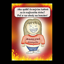 Papiernictvo - Zápisník jedál s vtipným citátom ,,Ako spáliť kalórie (4) - 6681889_