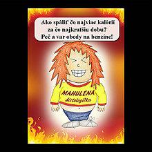 Papiernictvo - Zápisník jedál s vtipným citátom ,,Ako spáliť kalórie (5) - 6682240_