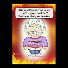 Papiernictvo - Zápisník jedál s vtipným citátom ,,Ako spáliť kalórie (6) - 6682574_