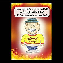 Papiernictvo - Zápisník jedál s vtipným citátom ,,Ako spáliť kalórie (11) - 6682984_
