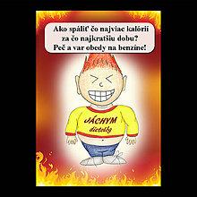 Papiernictvo - Zápisník jedál s vtipným citátom ,,Ako spáliť kalórie (12) - 6682986_