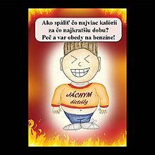 Papiernictvo - Zápisník jedál s vtipným citátom ,,Ako spáliť kalórie (13) - 6682987_