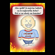 Papiernictvo - Zápisník jedál s vtipným citátom ,,Ako spáliť kalórie - 6682989_