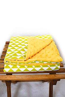 Textil - _BUVI... Limetková a Biela & MiNKy... deka pre najmenších ♥ - 6685515_