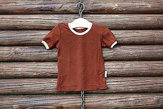 04236b90a Detské oblečenie - Hnedé bambusové tričko - veľkosť 104/110 - 6686915_