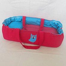 Hračky - Prenosná taška pre bábiku-Fuxia - 6683694_