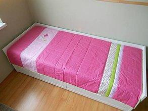 Úžitkový textil - Prehoz-Slávik a ruža - 6683892_