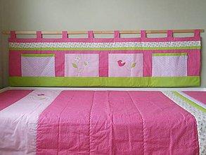 Úžitkový textil - Zástena Slávik a ruža - 6683907_